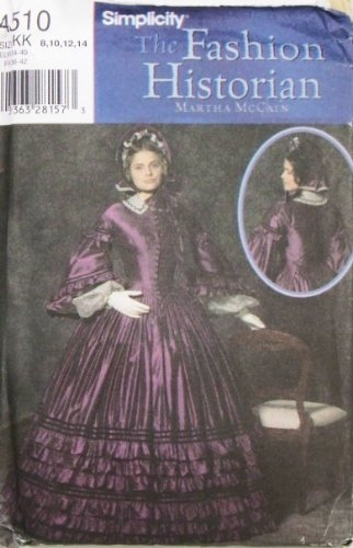 OOP Simplicity Pattern 4510. Misses Szs 8;10;12;14 Civil War Dress.