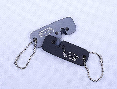 EDC Gear Tungsten steel Grindstone Carborundum Knife Sharpener Tactical keychain