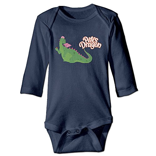 NINJOE Newborn Babys Cartoon Dragon Long Sleeve Jumpsuit Outfits Navy 6 M