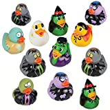 Halloween and Zombie Rubber Duckies (12 Pack) Combo Party Favors