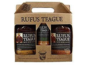 Rufus Teague Specialty Gift Set - Barbecue Sauce - Kosher OU - Honey Sweet, Touch O' Heat + Specialty Meat Rub