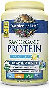 Garden of Life Raw Organic Protein Vanilla 22oz (624g) Powder