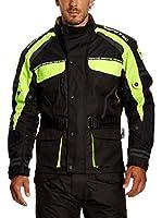 Roleff Racewear Chaqueta de Moto Motorrad (Negro / Amarillo)