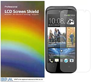 iBPM HTC Desire 500 Screen Protector Pack of 10 plus free cloth