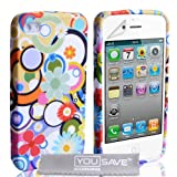 iPhone 4 / 4S Multicoloured Circles & Flowers Silicone Caseby Yousave Accessories