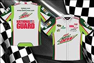 Dale Earnhardt Jr Diet Mountain Dew Mens Screen Print Grey Green Nascar 2012 Pit Crew... by RacingGifts