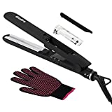 Steam Hair Straightener, GloEra Auto Shut off Adjustable Temperatures Professional Hair Straightening and Curler with Steam Ultrasonic Technology Making your Hair Stay Moisturized (Black)