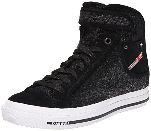 Diesel Women's Magnete Net Met W Fashion Sneaker, Black, 8.5 M US