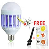 [UNCONDITIONAL GUARANTEE] 2016 Best Mosquito Killer LED Bulb, Lures, Zaps and Kills Insects - Lights Home - Fits 110V Indoor and Outdoor Fixtures + FREE Cleaning Brush+FREE 36 Mosquito Repellent Patches