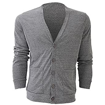 Canvas Triblend Mens Cardigan/Top (XS) (Grey Triblend)
