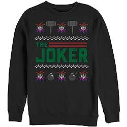 batman ugly christmas sweater joker mens graphic sweatshirt