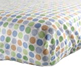 Flannel Fitted Crib Sheet, Boy Circle Theme