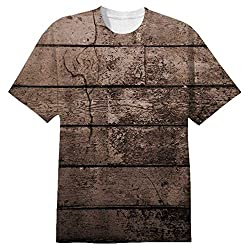 Snoogg Old Wood Textures Mens Casual All Over Printed T Shirts Tees