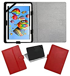 ACM LEATHER FLIP FLAP TABLET HOLDER CARRY CASE STAND COVER FOR DIGIFLIP PRO XT911 RED