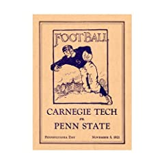 1921 Penn State Nittany Lions vs Carnegie Tech 36x48 Canvas Historic Football Poster...