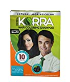 Korra Coloring Shampoo Hair Color Black Pack of 30,30 ml Each