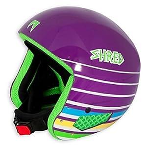SHRED Mega Brain Bucket Helmet 2013 - Size:Medium-Purple Lines by SHRED
