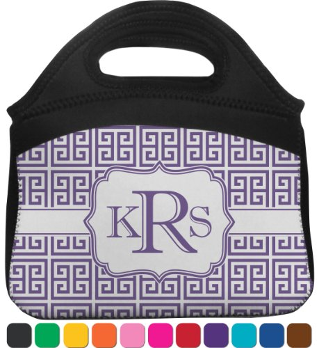 Greek Key Lunch Tote (Personalized) front-815999