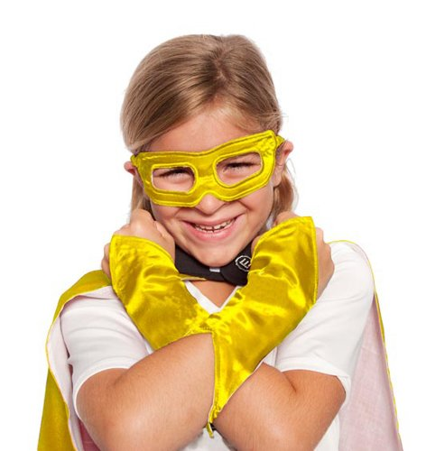 Yellow Superhero Eye Mask and Powerbands