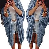 Vovotrade®Femmes Lady Casual manches en tricot Pull Veste Manteau Cardigan (EU Size:42, Bleu foncé)...