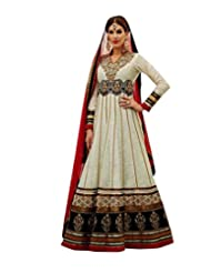 Saree dotcom Women Banarasi Anarkali Dress Material