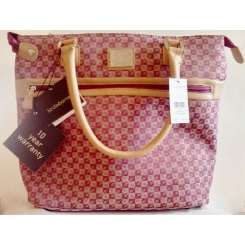 "Amazon.com: Liz Claiborne LC Casa Blanca 15"" Zip Tote Bag ~ Jacquard"