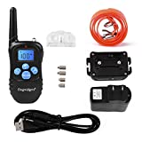 Dogwidgets DW-18 Dog Training Collar With Remote 100 Levels Of Shock Vibration Warning Sound Beep Rechargeable Waterproof 330 Yards Pet Trainer