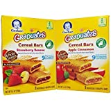 Gerber Graduates Cereal Bars 2 Pack. 1 Box Apple Cinnamon And 1 Box Strawberry Banana. 8 Bars In Each Box.