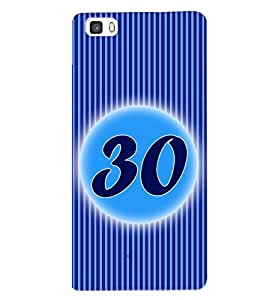 Fuson 3D Printed Numerology Designer back case cover for Huawei P8 - D4251