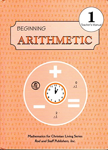 Beginning Arithmetic: Grade 1, Teacher's Manual (Hoover Manual compare prices)