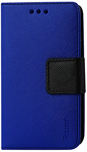 Reiko Flip Wallet Case 3-In-1 Leather Case Cover with Stand Function for Samsung Galaxy Ace - Retail Packaging - Navy (Reiko Flip Wallet Case Galaxy Ace compare prices)