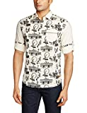 Locomotive Men's Casual Shirt (15110001446812_LMSH010248_Large_Beige)