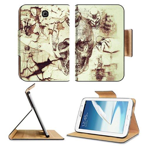 Davinci Artifacts Abstract Kreatiff Design Samsung Galaxy Note 8 Gt-N5100 Gt-N5110 Gt-N5120 Flip Case Stand Magnetic Cover Open Ports Customized Made To Order Support Ready Premium Deluxe Pu Leather 8 7/16 Inch (215Mm) X 5 11/16 Inch (145Mm) X 11/16 Inch front-1060628