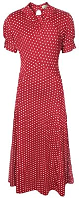 Lindy Bop Women's 'Amie' Classy Polka Dot Vintage 1940's 1950's Pinup Retro Tea Dress