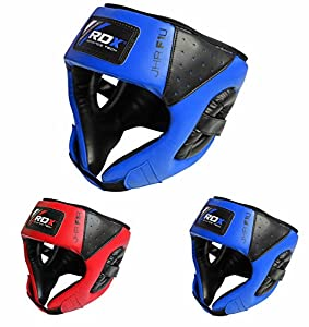 RDX Maya Hide Leather Kids Boxing MMA Headgear Junior Head Guard Children Youth Helmet