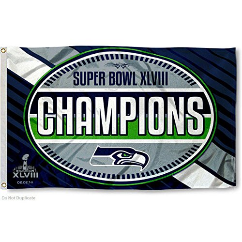 NFL 2014 Super Bowl XLVIII Champion 3x5-Feet Banner Flag (2014 Champions League compare prices)
