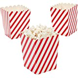 "Paper Mini 4"" Red and White Striped Popcorn Boxes 24 pc"
