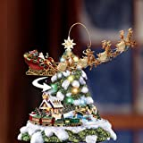 Thomas Kinkade Wonderland Express Animated Tabletop Christmas Tree With Train by Hawthorne Village