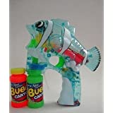 Light-Up Musical Cartoon Fish Bubble Gun Shooter With Two Refill Bottles (Color May Vary) - CNH