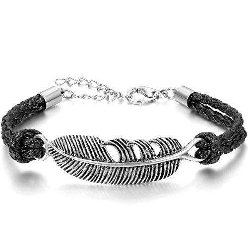 jewelrywe-gioielli-bracciale-da-uomo-donna-anchor-piuma-feather-pelle-acciaio-inossidabile-nero-arge