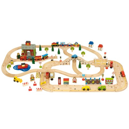 Bigjigs Road City Road and Rail Set