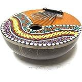 Kalimba Thumb Piano - 7 keys - Tunable - Coconut Shell - Painted
