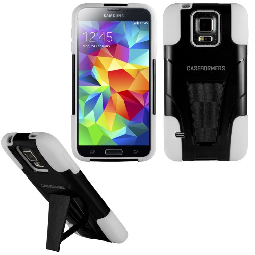 Caseformers Sentinel Dual Shield Case With Stand For Samsung Galaxy S5 - White/Black