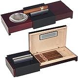 Humidor-Zigarrenascher Pianolack-Rosewoodfinish inkl. Lifestyle-Ambiente Tastingbogen