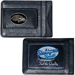 NFL Baltimore Ravens Leather Money Clip Cardholder