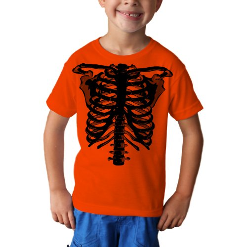 Zombie Skeleton Youth Halloween Costume Unisex Short Sleeve TShirt