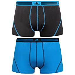 adidas Men's Athletic Stretch 2-Pack Trunk  Navy/Black  2 Large