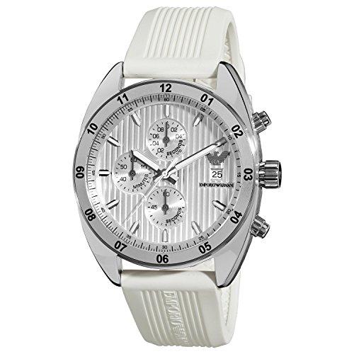 Emporio Armani Women's AR5929 Sport Silver Chronograph Dial Watch
