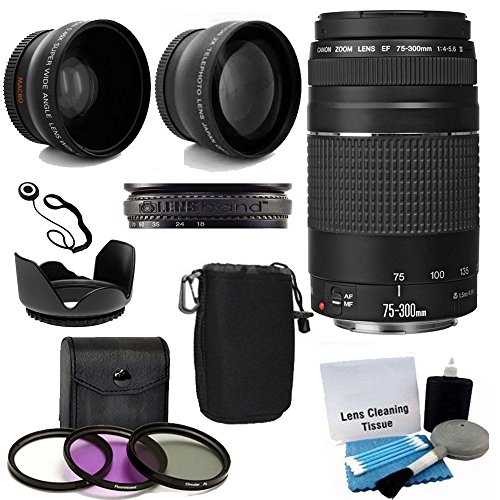 Canon-EF-75-300mm-f4-56-III-Telephoto-Zoom-Lens-USA-Warranty-for-Canon-Digital-SLR-Camera-With-2X-Telephoto-Lens-HD-Wide-Angle-Lens-3-PC-Filter-Lens-Kit-Deluxe-Accessory-Bundle-And-Much-More