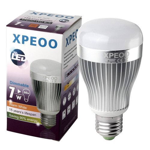 Xpeoo® Dimmable 13W(95W) 10W(75W) 7W(60W) Led Household A19 Soft White 2700-3000K Light Bulb, Energy Saving Lamp(Effect Of Philips) (720Lm/7W=60W)